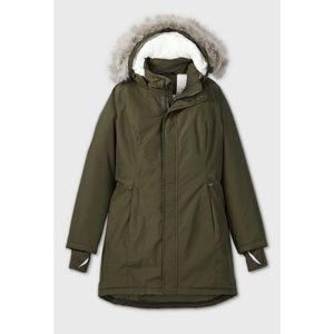 All In Motion Green Faux Fur Hooded Parka Jacket L